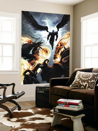 Ghost Riders: Heavens on Fire No.6 Cover: Ghost Rider and Zadkiel--Wall Mural