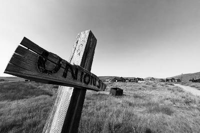 Ghost Town Street Sign, Bodie, California-George Oze-Photographic Print