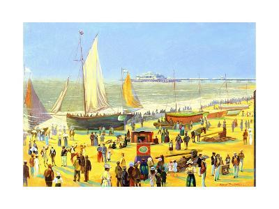 Ghosts on Brighton Beach-Robert Tyndall-Giclee Print