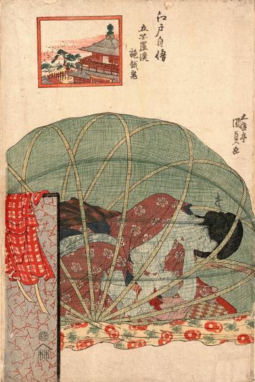 Ghyakurakan Segaki-Utagawa Toyokuni-Giclee Print