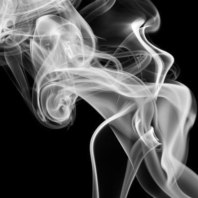 Black Smoke Abstract Square