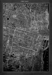 Chicago Map by GI ArtLab