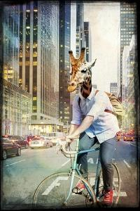 Giraffe on a Bike by GI ArtLab