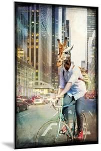 Giraffe on a Bike by GI ArtLab
