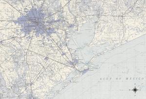 Houston Map B by GI ArtLab