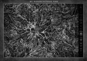 Mt. Rainier Map by GI ArtLab