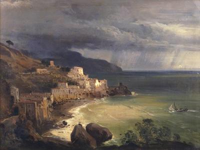 Sea Storm Off the Amalfi Coast