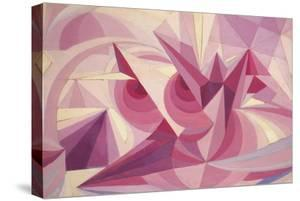 Force Lines of Landscape Amethyst by Giacomo Balla