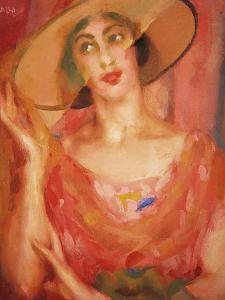 Portrait of Luce Balla by Giacomo Balla
