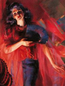 The Four Seasons in Red Autumn by Giacomo Balla