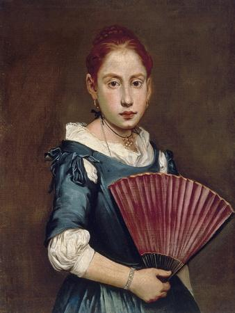 Young Girl with Fan, Ca 1740