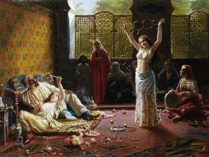 A Harem Scene by Giacomo Mantegazza