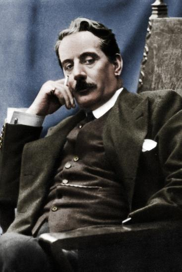Giacomo Puccini (1858-1924), Italian composer, 1910-Unknown-Photographic Print