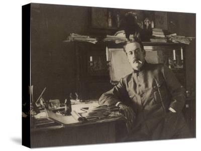 Giacomo Puccini Italian Composer in His Study