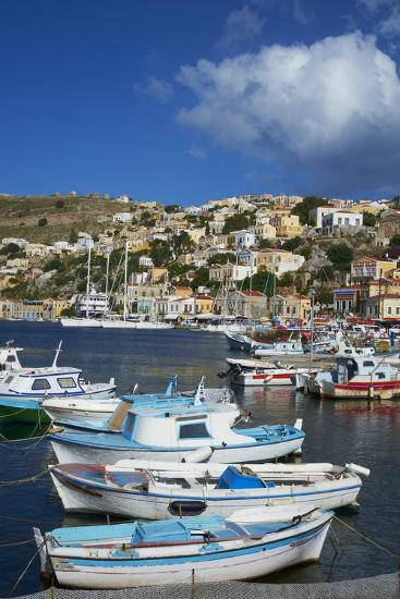 Gialos Harbour, Symi Island, Dodecanese, Greek Islands, Greece, Europe-Tuul-Photographic Print