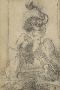 A Marine God with a Dolphin, 1652-3 by Gian Lorenzo Bernini