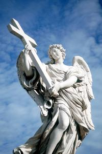 Angel Carrying a Cross, from the Ponte St Angelo, Rome, Italy, 1669 by Gian Lorenzo Bernini
