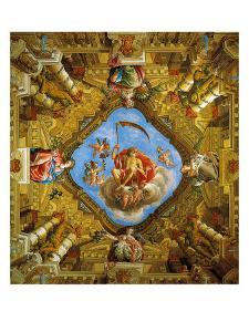 Frescoed Vault of the Room of the Golden Age (Sale Dell'Eta Dell'Oro) by Gian Lorenzo Bernini