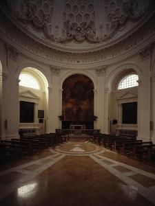 Interior of Dome in Church of Santa Maria Dell'Assunzione at Ariccia by Gian Lorenzo Bernini