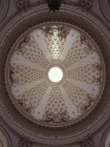 Interior of Dome of Collegiate Church of Santa Marissunta by Gian Lorenzo Bernini