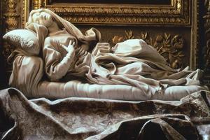 Italy, Rome, Church of San Francesco a Ripa, Blessed Ludovica Albertoni by Gian Lorenzo Bernini