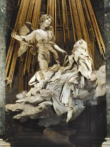 Italy, Rome, Church of Santa Maria Della Vittoria, Ecstasy of St Teresa of Avila, 1647-1652 by Gian Lorenzo Bernini