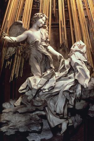 Italy, Rome, Cornaro Chapel of Church of Santa Maria Della Vittoria, Ecstasy of St Teresa of Avila