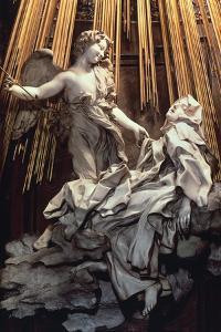 Italy, Rome, Cornaro Chapel of Church of Santa Maria Della Vittoria, Ecstasy of St Teresa of Avila by Gian Lorenzo Bernini