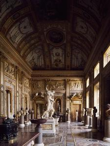 Room of Emperors with Rape of Proserpina in Centre, Galleria Borghese, Rome, Italy by Gian Lorenzo Bernini