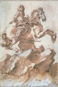 Sketch for Louis XIV on Horseback by Gian Lorenzo Bernini