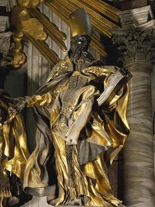 St Augustine, Detail from Chair of St Peter, 1556-1565 by Gian Lorenzo Bernini