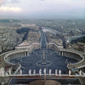 View from the Dome of St Peters in Rome, 17th Century by Gian Lorenzo Bernini