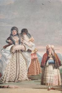 A Winter Stroll, from the 'Foresteria' (Guesthouse) 1757 by Giandomenico Tiepolo
