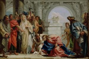 Christ and the Woman Taken in Adultery, 1750-53 by Giandomenico Tiepolo