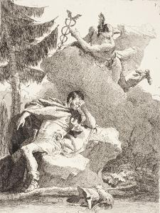 Mercury Appears to Æneas in a Dream, C.1770 by Giandomenico Tiepolo