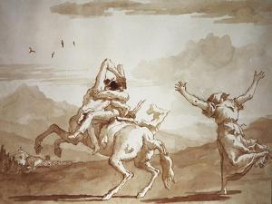 Pulcinella Kidnapped by the Centaur by Giandomenico Tiepolo