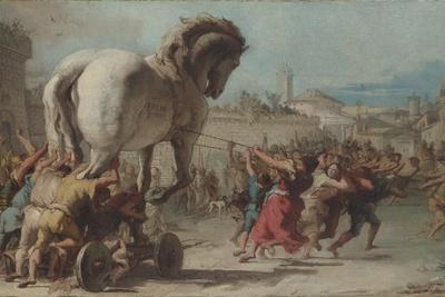 The Procession of the Trojan Horse into Troy, Ca 1760