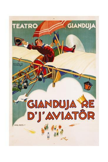 Gianduja Re D'J'Aviator Poster-Carlo Nicco-Giclee Print