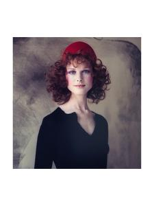Model, Pat Dow Wearing a Juliano Knits Two Piece Dress by Gianni Penati