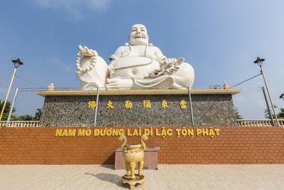 Giant Buddha Statue at Vinh Trang Pagoda, My Tho, Vietnam, Indochina, Southeast Asia, Asia-Michael Nolan-Photographic Print