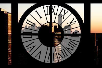 Giant Clock Window - City View at Sunset with the One World Trade Center-Philippe Hugonnard-Photographic Print