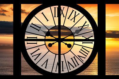 Giant Clock Window - View of a Sunset-Philippe Hugonnard-Photographic Print
