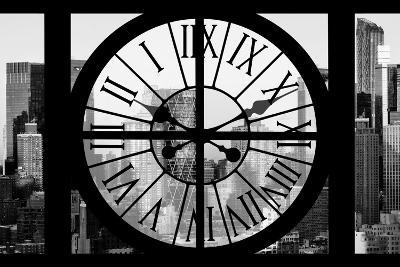 Giant Clock Window - View of Hell's Kitchen in Winter - Manhattan II-Philippe Hugonnard-Photographic Print