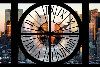 Giant Clock Window - View of Hell's Kitchen in Winter - Manhattan-Philippe Hugonnard-Photographic Print