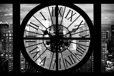 Giant Clock Window - View of Manhattan at Dusk II-Philippe Hugonnard-Photographic Print