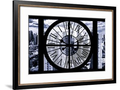 Giant Clock Window - View of Manhattan - New York City III-Philippe Hugonnard-Framed Photographic Print