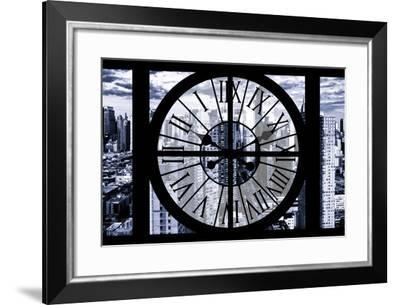 Giant Clock Window - View of Manhattan - New York City III-Philippe Hugonnard-Framed Photographic Print