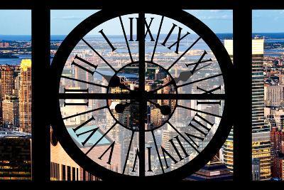 Giant Clock Window - View of Midtown Manhattan III-Philippe Hugonnard-Photographic Print