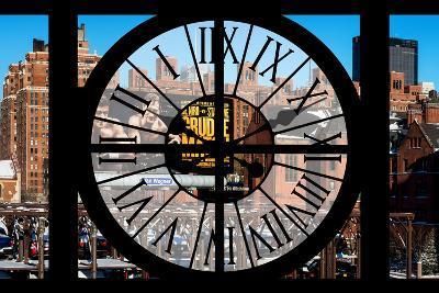 Giant Clock Window - View of New York Brick Buildings-Philippe Hugonnard-Photographic Print
