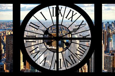Giant Clock Window - View of New York City-Philippe Hugonnard-Photographic Print